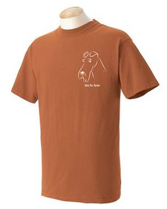 Love your dog? Youll love our original designs. This design is hot pressed on the shirt with long-lasting and durable vinyl. The shirt is a heavy weight, ringspun, garment dyed tee. The shirt is super-soft and pre-shrunk.  Dont have this breed? Most dog breeds are available in illustrations. You can always request a breed. You can check out all my designs at: http://www.flickr.com/photos/wrytoastdesigns/  The shirt color shown is Yam. Please keep in mind that the colo...