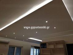 Οροφή με κρυφό φωτισμό σε οικία στο Αιγάλεω. Lights