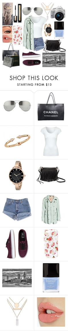 """""""Shopping in London"""" by pearlgirl1994 ❤ liked on Polyvore featuring Linda Farrow, Guerlain, Chanel, Zara, Ultimate, Vita Fede, Jane Norman, Anne Klein, Rebecca Minkoff and Burberry"""