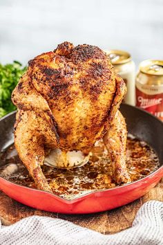 Smoked Beer Can Chicken, Chicken In Foil, Canned Chicken, Chef Recipes, Slow Cooker Recipes, Appetizer Recipes, Smoker Recipes, Easy Chicken Dinner Recipes, Turkey Recipes