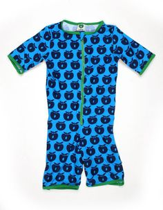 Blue swimming suit with apples - Smafolk