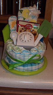 Kitchen towel cake - perfect gift for a bridal shower!
