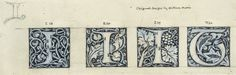 The strength of The Morgan's collection of William Morris, however, lies in the documentation of Morris's ventures into printing, typography, and book design for the Kelmscott Press. Trials, preliminary drawings, and proofs for typography, ornamental initials, and illustrations comprise an archaeological trove pertaining to his masterpiece, The Works of Geoffrey Chaucer (1896).