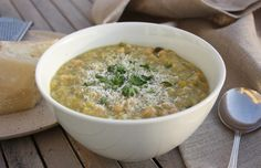 Chickpea and Leek Soup – quick, easy, delicious and filling. | marmaladeandme.com