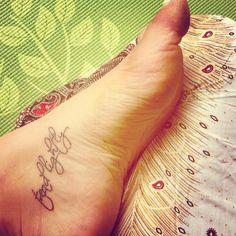 Tread lightly #tattoo #yoga