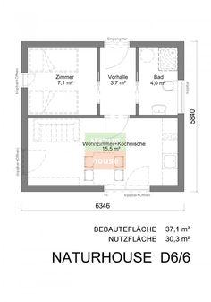 Wochenendhaus 6x6 m   NATURHOUSE® -
