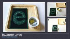 Montessori Inspired Chalkboard Lowercase Letters A-Z Montessori Homeschool, Montessori Elementary, Montessori Classroom, Montessori Activities, Writing Activities, Educational Activities, Activities For Kids, Maria Montessori, Homeschooling