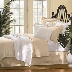 William and Mary Bone Matelasse Bedspread, 100% Cotton - BedBathandBeyond.com