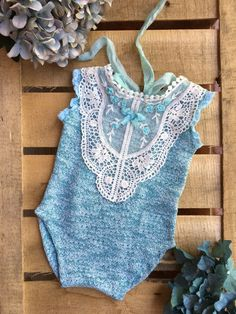 """MiLena """"sea"""" collection. Romper in 4-6 months size."""
