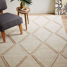 Affine Metallic Jute Rug | west elm