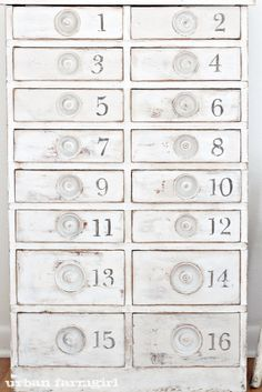 diy numbered cabinet
