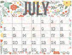 calendar 2016 july ile ilgili görsel sonucu