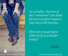 #QOTD: How are you going to #ShowUp as a leader today? #leadership