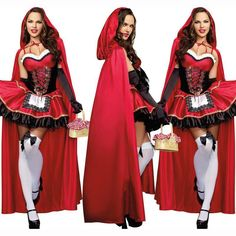 Little Red Riding Hood Costume for Women Fancy Adult Halloween
