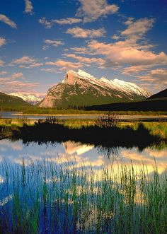 Mount Rundle, Vermillion Lake, Banff National Park, Alberta, Canada; photo by .Darwin Wiggett