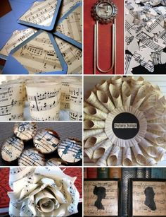 Image detail for -Attention 2 Detail: Creative Gift Wrapping Ideas Wedding Music, Wedding Blog, Dream Wedding, Wedding Ideas, Music Themed Parties, Music Party, Sheet Music Art, Music Sheets, Diy And Crafts
