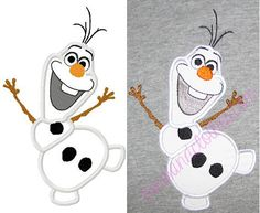 Olaf applique frozen applique design by BowsAndClothesDesign, $2.75