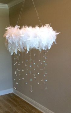 feather crystal baby mobile princess baby mobile princess decoration tutu mobile baby mobile ba DIY EVERYTHING Baby Mädchen Mobile, Mobile Mobile, Baby Mobiles, Home Crafts, Diy And Crafts, Diy Room Decor, Bedroom Decor, Bedroom Ideas, Feather Mobile