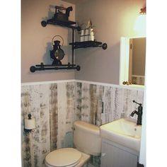 beadboard panel hides the bathroom plumbing and toilet roll holder makes the door handle diy. Black Bedroom Furniture Sets. Home Design Ideas
