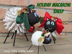 holiday macaroni sheep diy too cute!
