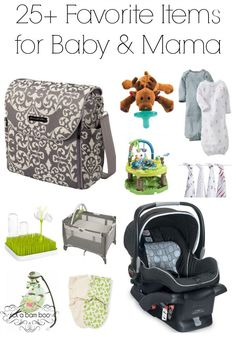 My top 25 favorite items for baby and mama to help get them through those first days to the first years. | rickabamboo.com