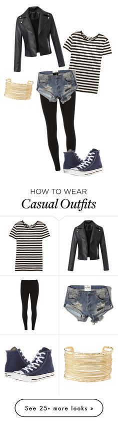 """Striped casuality"" by benjiedaisy on Polyvore featuring Proenza Schouler, Dorothy Perkins, Abercrombie & Fitch, Charlotte Russe, Converse and casual"
