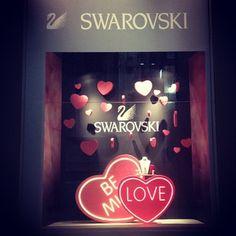 """Be Mine this Valentine"" Swarovski display (originally taken by dollsfactory with Instagram)"
