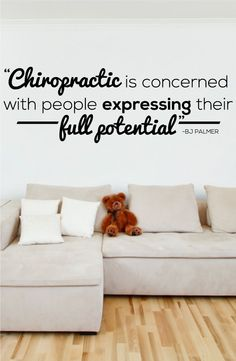 Chiropractic is concerned with people expressing their full potenial - BJ Palmer - Chiropractor Wall Decal - 0132