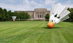 Shuttlecocks - Nelson-Atkins Museum of Art - Kansas City, the creation of Claes Oldenburg and his late wife Coosje van Bruggen.