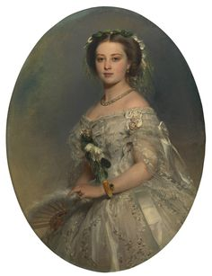 Franz Xaver Winterhalter (1805-73)    Victoria, Princess Royal (1840-1901), later Empress Frederick of Germany  Signed and dated 1857