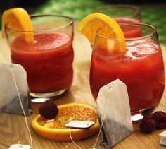 Thé glacé framboises et oranges - Envie de bien manger #recette #cocktail