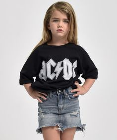 The Kids 2020 High Waist Mini is a rigid denim, high waist skirt. It features a curved raw hem, heavy distressing on the front panels and our signature button closure. Storm Buoy is a faded, dirty blue denim wash. Stretch Denim Skirt, High Waisted Denim Skirt, Waist Skirt, Denim Fashion, Kids Fashion, Black Espadrilles, Sweater Shirt, Distressed Denim, Blue Denim