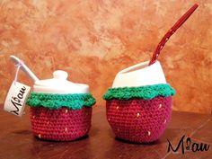 Mate+Azucarera #matetejido, #crochet, #frutillas Consultas: anaramirez131@gmail.com