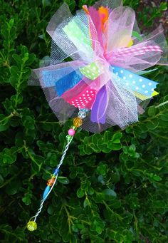 Fairy Princess Ribbon Wand - I need to make these with left over ribbon scraps!