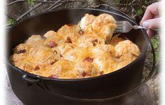 Dutch Oven Bacon Cheese Pull Apart | #diyready www.diyready.com