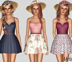 Metens' Country Song - Dress for Sims 3