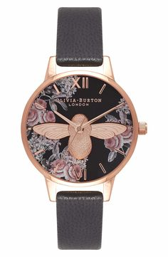 df159da2f2d4 Main Image - Olivia Burton Leather Strap Watch