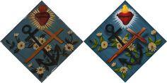 Quadro 1 - Quadros originais da Matriz de São Sebastião de Florânia-RN, reproduzidos em vetor, para impressão em qualquer tamanho. - 2014