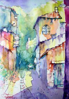 Watercolor street.