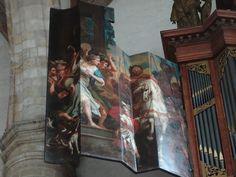 Middelburg - Nieuwe Kerk. Orgel uit 1693 van Johannes Duyschot. Kas ontworpen door Jan Albertsz Schut Beeldhouwwerk van Jasper Wageman, schilderingen op de luiken van Hendrick Tiedemann. In 1954 geplaatst in deze kerk vanuit Rijksmuseum Amsterdam. Foto: G.J. Koppenaal - 6/7/2017.