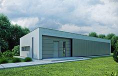 Dom parterowy o nowoczesnej architekturze i prostej bryle przeznaczony jest dla 4 osobowej rodziny.
