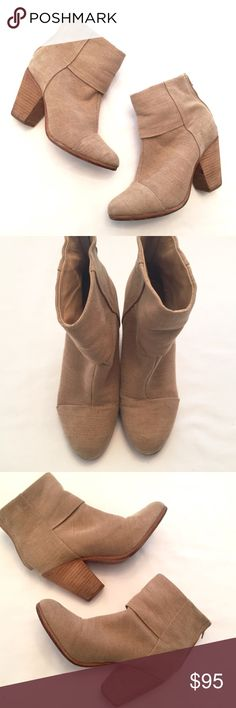 """rag & bone canvas ankle boots 6.5 3"""" heel. Canvas tan upper. Very comfortable to wear! Some faint marking on heels, as shown. Please review all pics for any signs of wear. These were only worn a handful of times. Last two photos are stock. ❣Bundle your likes for a private sale offer! ✖️I do NOT MODEL✖️ NO TRADES. 🔴REASONABLE offers welcome via offer button. Smoke free home. Fast shipping! rag & bone Shoes Ankle Boots & Booties"""
