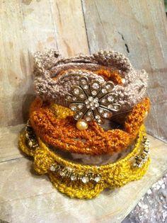 Crochet Metallic Bangles | Kollabora