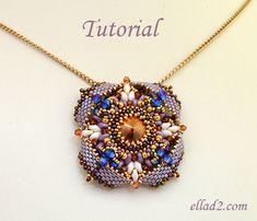 Tutorial colgante Eterno tutorial de abalorios patrón por Ellad2