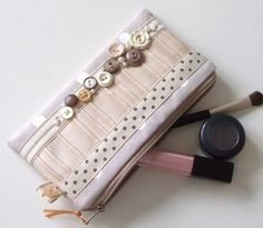Vintage Flower Button Makeup Purse by nataliefarrell on Etsy, $20.00