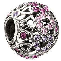 Chamilia - Captured Hearts - Purple Swarovski    Gather up all your love with the Captured Hearts bead. The purple crystal Swarovski Elements collect your passion, bringing you heartfelt spirit every day.  Article no.: 2025-0682