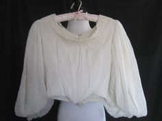 Antique blouse, 1900, 1910, Edwardian, Downton Abbey, Steampunk, Gothic, wedding, extra small, display