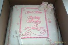 Baby girl baptismal cake