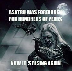 Try thousands of years. Asatru predates Christianity by at least 38000 years. The only true religion. But thanks to the barbaric beliefs of Christians it was almost stamped out. Heathens are alive and well today. Odin Norse Mythology, Norse Pagan, Old Norse, Thor Norse, Viking Life, Viking Warrior, Viking Woman, Viking Facts, Norse Religion