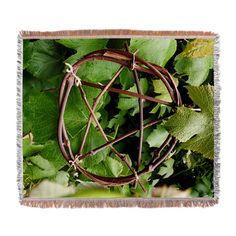 Grapevine Pentacle Woven Blanket via CafePress.